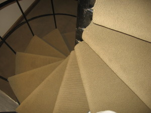 Here is the overview of a spiral staircase.